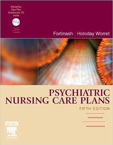 Psychiatric Nursing Care Plans Fortinash Psychiatric Nursing Care
