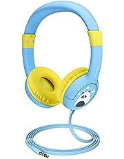 2 Pack Casque Audio Enfant CH1 Limiteur de Volume Function de Partager Musique Microphone pour Lunni Ordinateurs Portable Android Smartphones PC Ordinateur 18 Mois Garantie