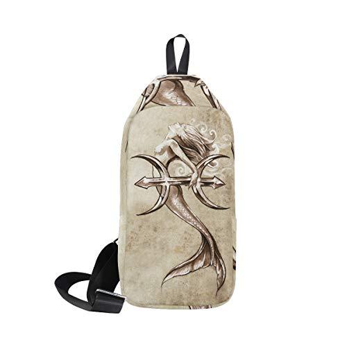 amp; One Bennigiry Men Women Beautiful Mermaid Crossbody Shoulder Bags Chest For Bag Backpack Sling 447XxH