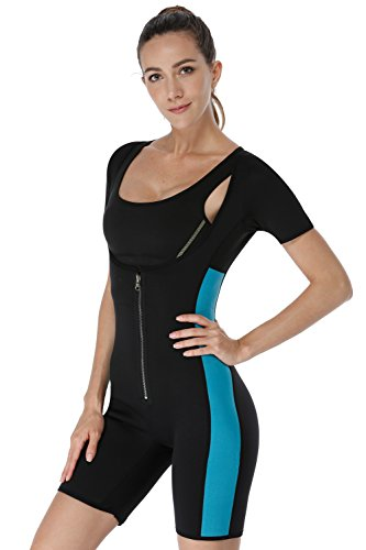 NonEcho Sauna Full Body Shaper Sweat Bodysuit Sleeve Shapewear Slimming Suit Weight Loss GYM Sport Aerobic Boxing MMA