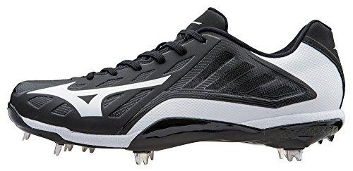Mizuno Men's Heist IQ Baseball Cleat, Black/White, 10.5 M US