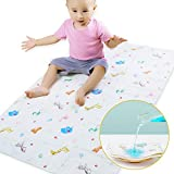 Baby Crib Mattress Pads Cover - Toddler Mattress Pads for Incontinence - Leak-Proof Playard Changing Mat for Toddlers, Size 20'X27' or 27'X43' (20'X27', Animal)