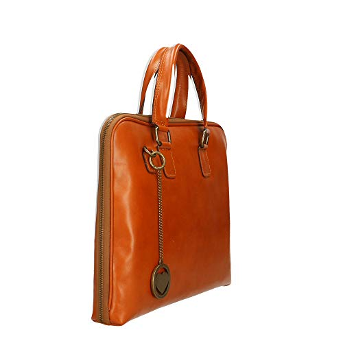 Chicca Made Sac In À 40x24x15 Italy En documents Véritable Borse Cm Porte Cuir Main rFqr6z