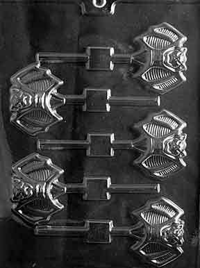 Cybrtrayd Life of the Party H160 Halloween Ugly Bat Lolly Chocolate Candy Mold in Sealed Protective Poly Bag Imprinted with Copyrighted Cybrtrayd Molding -