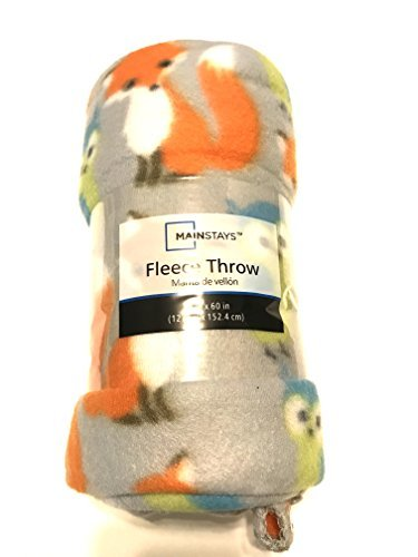 Mainstays Fox and Owl Fleece Throw
