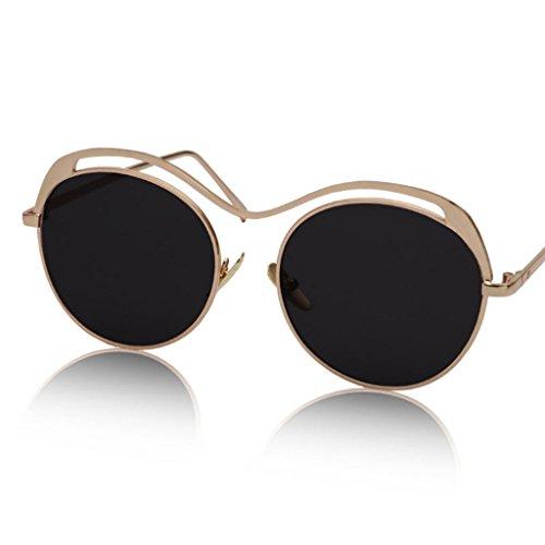 X135 Gafas Gafas de Retro sol Transparentes sol 5 Color Gafas 6 de Redondas de Color CCwPpqaxB