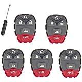 Pack Of 5 Keyless Remote 5B Key Pad Rubber For Buick LaCrosse Chevrolet Malibu Pontiac G6