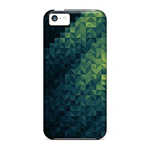 Faddish Phone Green Geometric Case For Iphone 5c / Perfect Case Cover