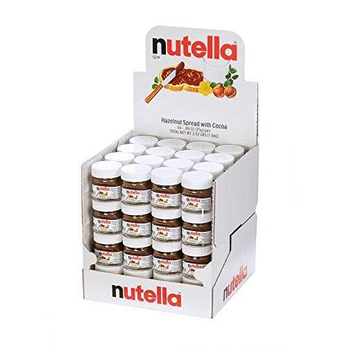 Nutella Hazelnut Spread with Cocoa Glass Jar.88 Ounce - 64 per (Nutella Hazelnut Spread)