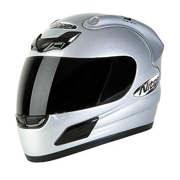 Casco de Moto Casco Integral Nitro N 800 de v plata Talla M