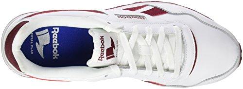 Collegiate LX White Sneakers Glide White Collegiate Basses Blanc Burgundy Steel Rot Royal Homme Reebok Burgundy Pq0aE1P