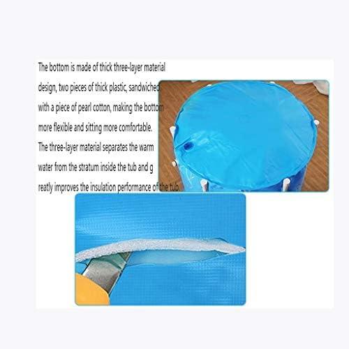 SBWFH ブルーバスタブ - 折り畳み式ポータブルプラスチックバスタブ家庭用風呂バレル頑丈かつ耐久性のあります