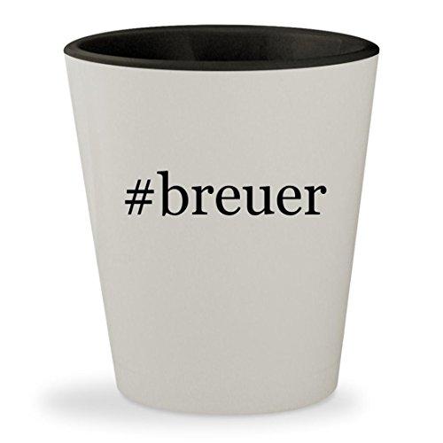 #breuer - Hashtag White Outer & Black Inner Ceramic 1.5oz Shot Glass (Seat Breuer Cane Replacement)