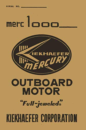 Merc 1000: Classic Mercury 1000 outboard motor  college ruled notebook journal and repair book (Johnson 4 Stroke Outboard Motors For Sale)
