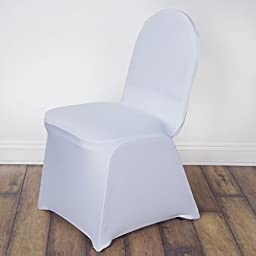 10 pcs Banquet Spandex Stretchable Chair Covers - White