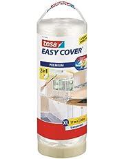 Tesa 57117-00000-03 Easy Cover Telo Protettivo Filmico con Nastro in Carta con Ricarica, 17m:2600mm