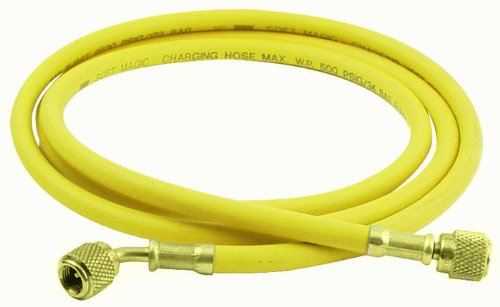 - Uniweld H5SMBY Soft Magic Barrier Charging and Vacuum Hose for HVACR System Service with 45-Degree Angle Fittings, 60-Inch