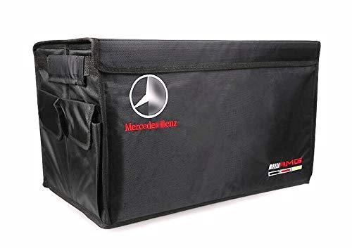 Multi Box Accessories - YI MEI DA Auto Trunk Organizer Collapsible Portable Multi Compartments Storage Container for Mercedes-Benz Accessries,Black
