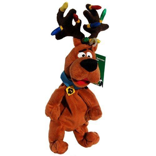 Scooby Doo Reindeer Antlers Christmas Lights - Warner Bros Bean Bag Plush