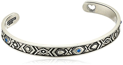 Alex and Ani Evil Eye Cuff Bangle Bracelet, Rafaelian Silver, Expandable