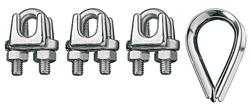 (Ronstan Wire Rope Clip and Thimble Kit, 1/2 In - ID003404-12)