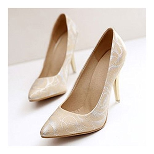 Women Thin High Shoes apricot Shoes Heel Pointed RrqRxT