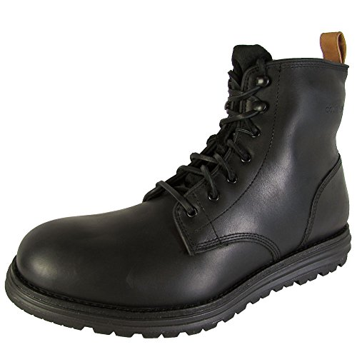 (Cole Haan Mens Lockridge Waterproof Plain Toe Boot Shoes, Black, US 7)