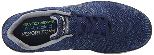 Skechers (SKEES) - Flex Advantage 2.0, Scarpa Tecnica da uomo, blu (nvgy), 43