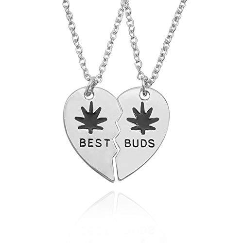 dream-boy-kkk Forever Sister Pendant Necklace Women Enamel Love Heart Coffee Cup Necklaces Pendants BFF Couple - Tiffany Sterling Keychain Silver