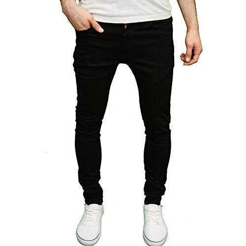 526Jeanswear SENJO Mens Designer Stretch Super Skinny Fit Jeans