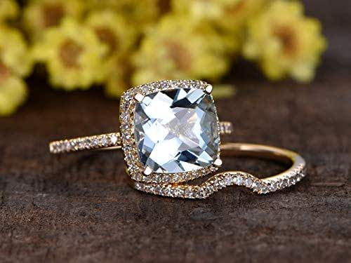 Amazon.com: 7mm Cushion Cut 1.28ct VS Natural Blue