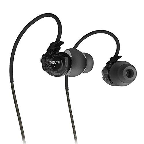 Sport Earphones, GranVela C1 Noise lsolating Sweatproof in-Ear Headphones with Microphone and Ergonomics Design for Running, Workout