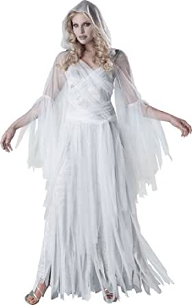 InCharacter Costumes Women's Haunting Beauty Ghost Costume, White/Grey, Small