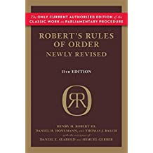 Robert's Rules of Order Newly Revised, 11th edition