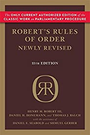 Robert's Rules of Order Newly Revised (Robert's Rules of Order (Pap