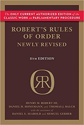 e5492bf6d32 Robert s Rules of Order Newly Revised (Robert s Rules of Order (Paperback))  11th Edition