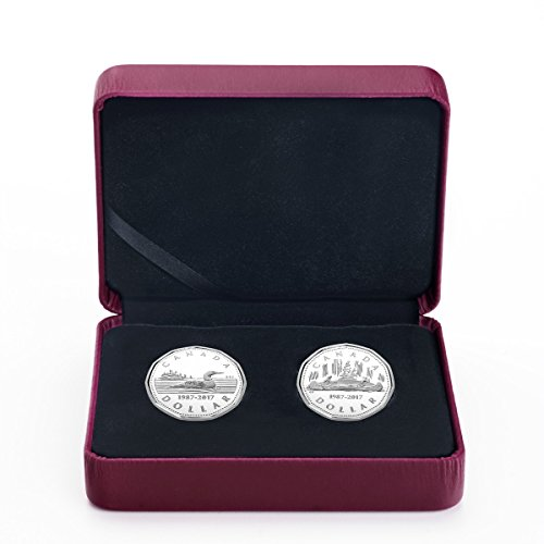 CA 2017 Silver Coin Set 2017 $1 The Loonie, 30th Anniversary 2 Coin Pure Silver Set Mint State
