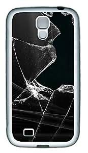 Samsung S4 Case Black Glass TPU Custom Samsung S4 Case Cover White
