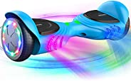 TOMOLOO Music-Rhythmed Hover Board for Kids and Adult Two-Wheel Self-Balancing Scooter- UL2272 Certificated wi