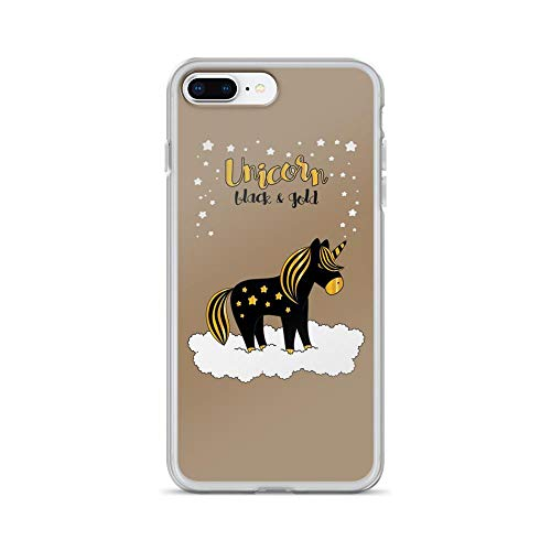 iPhone 7 Plus/8 Plus Pure Clear Case Cases Cover Unicorn Black and Gold