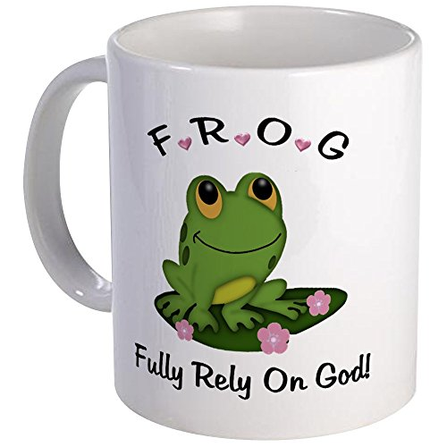 (CafePress - FROG Fully Rely On God Mug - Unique Coffee Mug, Coffee)