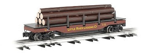 Track O-27 Uncoupling - Williams by Bachmann Little River Logging Company O Scale Operating Log Dump Car