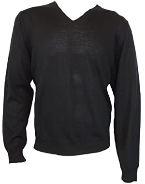 Calvin Klein Wool V-Neck Sweater Black XL