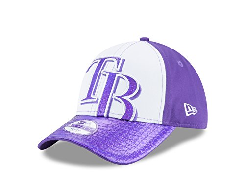 New Era MLB Tampa Bay Rays Kids Glimmer Glitz 9FORTY Adjustable Cap, Youth, - Mlb Cap Adjustable Youth Girl