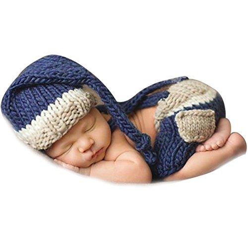 Jastore ® Foto Fotografie Prop Baby Junge Kostüm Nette blau Stricken ...