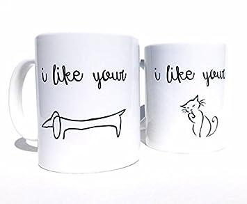 pmihwh0023 set of 2 husband and wife coffee mugs girlfriend gift boyfriend gift husband gift wife
