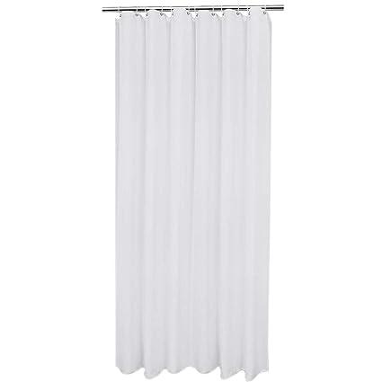 TOOGOO Shower Curtain Liner Mildew Resistant Elegant White Polyester Water Proof Metal Grommets Solid