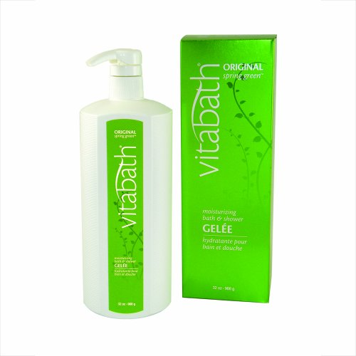 Vitabath Bath & Shower Gelee, Moisturizing, Original Spring Green, 32-Ounces (32 Ounce Moisturizing Bath)