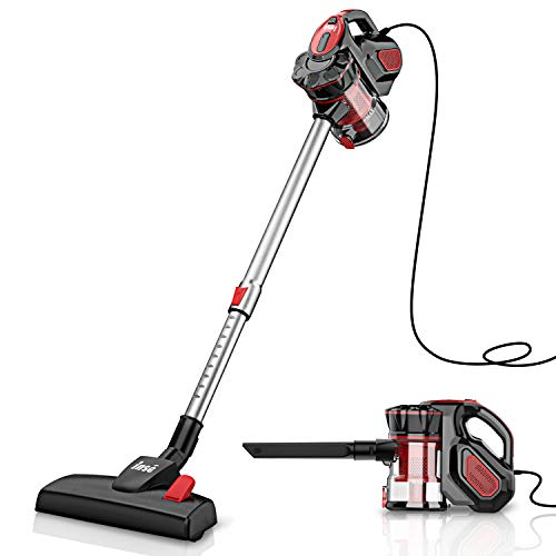 INSE Vacuum Cleaner Corded Stick, 18Kpa Powerful Suction, Extension Wand, Handheld Vacumes for Hardwood Floor 600W - I5