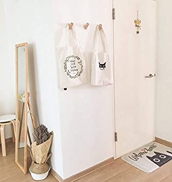 Hanging Clothes Anaan One Tenth Wooden Wall Coat Rack Coat Hooks Wood Decorative Wall Mounted Decor Design Modern Walnut S F3 6cm Wall Hooks Scarves Bags